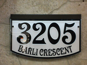 Home Address signs LED lighted