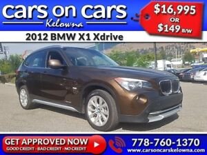 2012 BMW X1 Xdrive w/Leather, PanoRoof, Navi $149B/W INSTANT APP