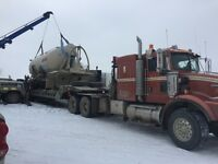 Heavy haul, oilfield, low bed, low boy, hotshot Nisku Edmonton