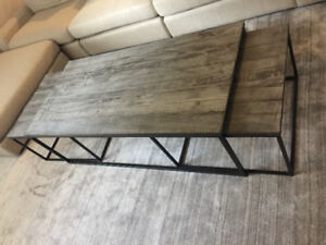 Reclaimed wood nesting coffee table - paid $1800