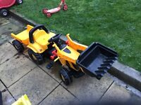 Kids jcb tractor and trailer
