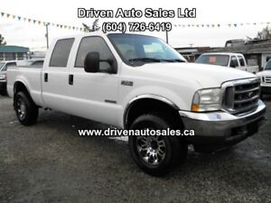 2004 Ford F-350 Lariat Diesel Leather Crew Cab 4x4 Pickup Truck