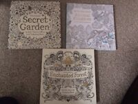 3 x Adult colouring books