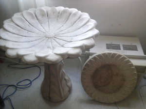 Concrete bird bath with stand  100 or best offer