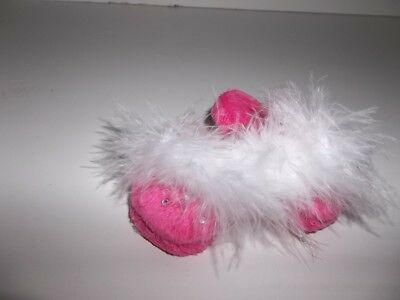 Hot Pink Fluffy Slipper with Bling Shoe for 18