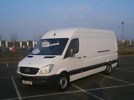 2013 63 MERCEDES-BENZ SPRINTER 2.1TD 316CDI LWB HIGH TOP ROOF PANEL VAN WHITE