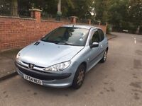PEUGEOT 206 3 DOOR 2005 50k SILVER MOTD TAXED 1.4 DRIVES BUT NEEDS ATTENTION