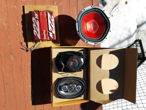 Speakers ,amp and subwoofer