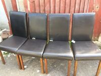 Set of four dinning chairs
