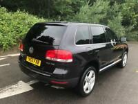 2003 Volkswagen Touareg 5.0 TDI V10 auto Black + Sat Nav Leather 10 Services