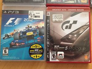 PS3 Racing 6 games (F1-GTA-GRAN TOURISMO)