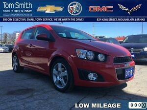 2016 Chevrolet Sonic LT   - Certified - BLUETOOTH - Low Mileage