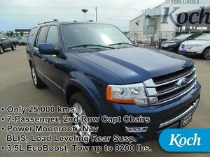 2015 Ford Expedition Limited   Low kms, 2nd Row Capts, Nav, Moon