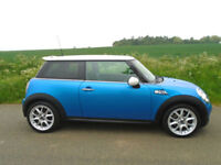 MINI HATCH 1.6 COOPER S (Chili) 3DR LASER BLUE - HUGE SPEC - WELL MAINTAINED