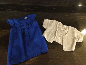 Zara Baby Dress and Shawl - 9-12M