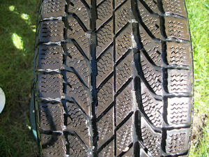Four Goodrich Winter Slalom tires with rims London Ontario image 5