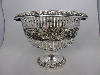 gr. Bruckmann Obstkorb Silber 800 punziert Akanthus & Wein Dekor ~1900