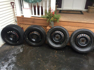Bridgestone Blizzak Winter Tires with Rims (205 55 R16)