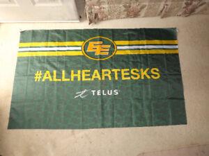 """FS: """"Edmonton Eskimos"""" Silk Flag"""