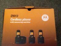 MOTOROLA CORDLESS PHONE D1013