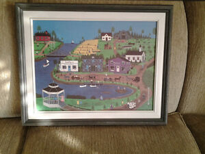 The Inlet - Print of original painting by Myrna Lewis