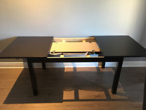Compact dining table with chairs