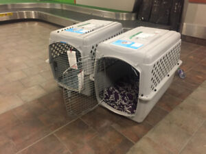 2 'Large' Dog Kennels made for air Travel