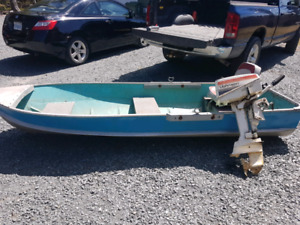 12' aluminum boat and 4.5 hp Johnson motor