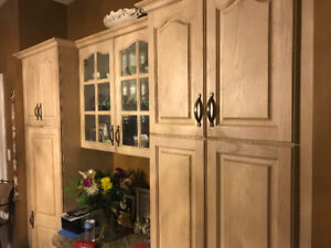 Complete kitchen cabinets- oak wood