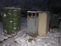 Assortment of old post office boxes