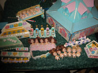 Vintage 1989-1990 Tyco Quints Doll Collection