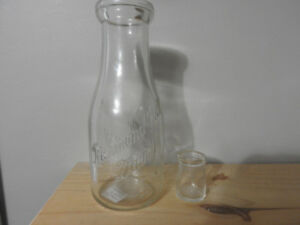 Richmond Hill Milk Bottle and Mini Creamer