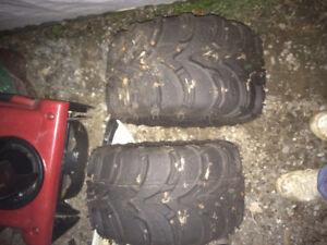 """2 itp atv tires 22x11x8"""" rim"""