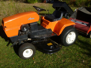 Ariens lawn tractor with 4 attachments