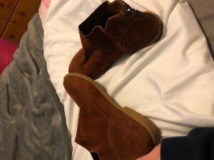 Women's Brown Suede Booties Size 7.5