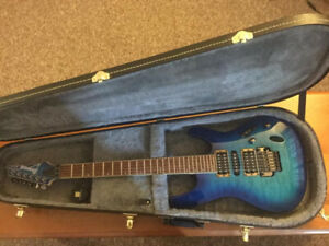 New Ibanez S670QM with hard shell case.
