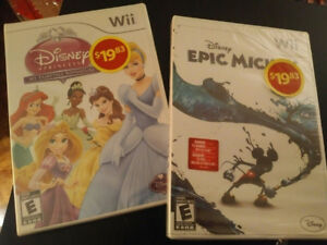 Brand new sealed Wii games