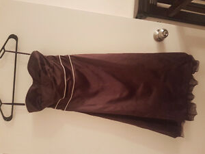 Satin brown dress