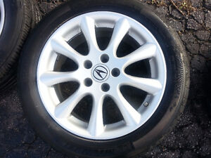 "Acura TSX OEM 17"" Rims, TPMS,  and Michelin Pilot Tires Cambridge Kitchener Area image 3"