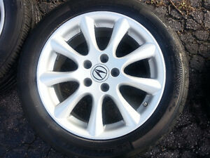 """Acura TSX OEM 17"""" Rims, TPMS,  and Michelin Pilot Tires Cambridge Kitchener Area image 3"""