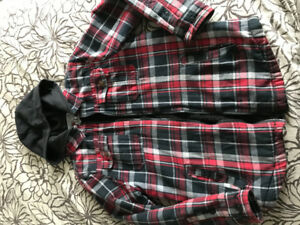 Boy's Plaid Jacket - Size XL/14-16
