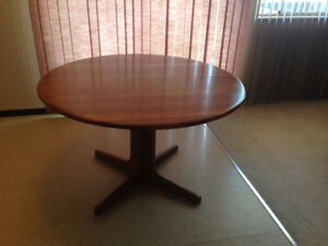 Real Teak Dining Table + 6 Chairs For Sale