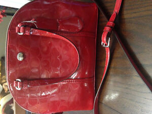 Coach Red hand bag