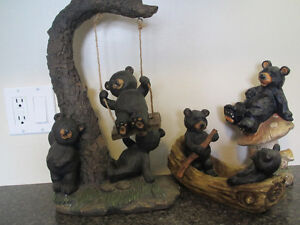 set of 3 bear decor for indoor or outdoor