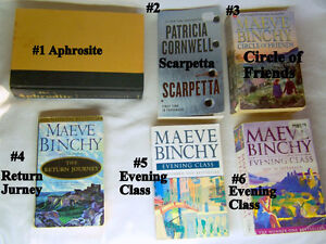 6 books mysteries and romance great writers modern stories $5 ea