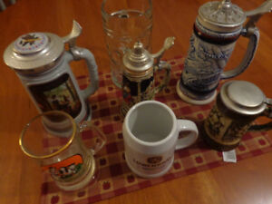 Collectible Beer Steins & Mugs: Great Collection For A Man Cave!