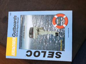 Selling a repair manual for evinrude  outboard