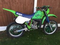 Road registered Kawasaki KMX 125 motocross bike