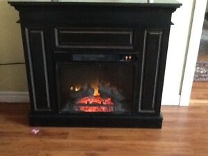 Electric fireplace and toybox