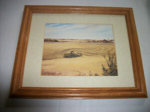 """Swathing in Late Summer"" by Sask artist Sharon Larson"